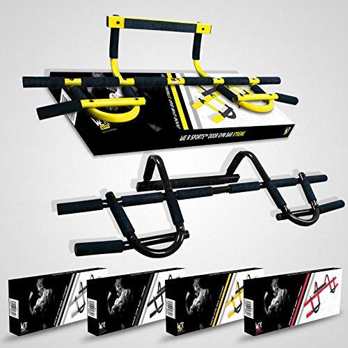 We R Sports Door Gym Barre de traction/abdominaux Fixation sur porte Blanc