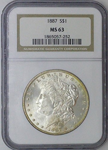1887 P Morgan $1 MS63 NGC MS