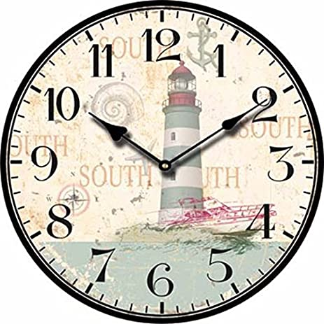 Attractive Wooden Wall Clock Modern Design Vintage Antique Wall Clock Bathroom Cafe  Decoration Wall Clocks
