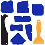 Amteker 9 Pezzi Silicone Strumento di Sigillante di Finitura Strumento di Calafataggio Levigante per Cucina Bagno Piano Sigillante di Tenuta