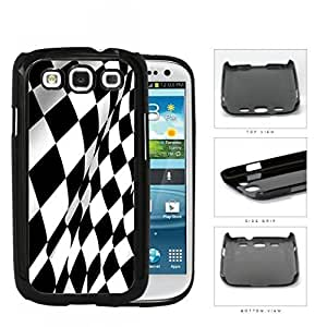 Black And White Checkered Racing Flag Hard Plastic Snap On Cell Phone Case Samsung Galaxy S3 SIII I9300
