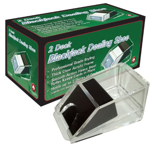 Deluxe 2-Deck Acrylic Casino Blackjack/Poker Dealer Shoe - Includes Bonus Cut Cards! by Poker Supplies
