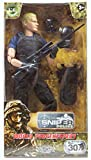 Army Toys Action Figure by World Peacekeepers - Collectible 12 Inch Military Action Figure Army Man - Army Men Toys w/ 6 Accessories - Sniper (Police)