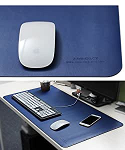 Meisiter Blue Portable Microfiber Leather Oversized Mouse Pad Waterproof Office Desk Pad