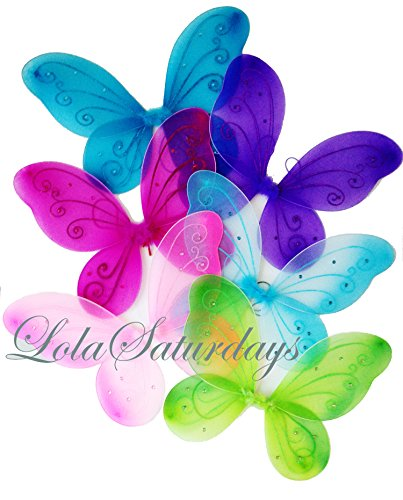 LOLASATURDAYS 6 Pack Assorted Fairy Wings (22