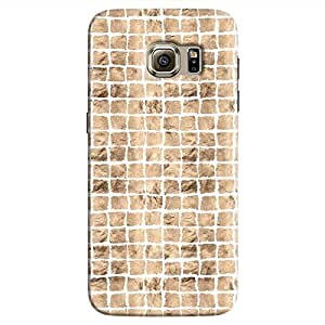 Cover It Up - Brown White Break Mosaic Galaxy S7 Hard Case