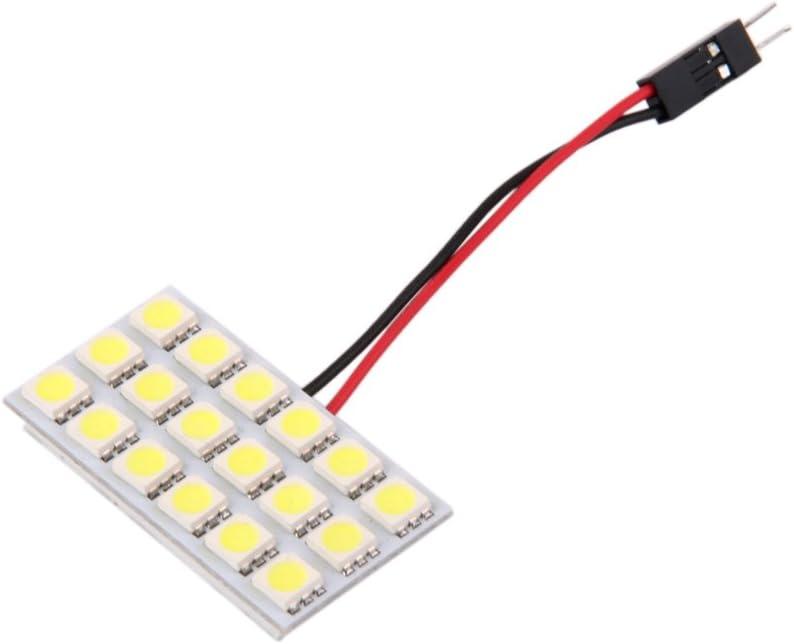 B Baosity Panneau Lumineux Int/érieur De La Voiture 18 SMD LED T10 BA9S Ampoule D/ôme Adaptateur 12V DC CG