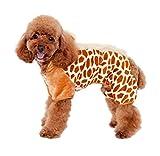 Freerun Fall Winter Soft Warm Pet Clothes Polar Fleece Pet Dog Cat Apparel for Cold Weather - Brown, M