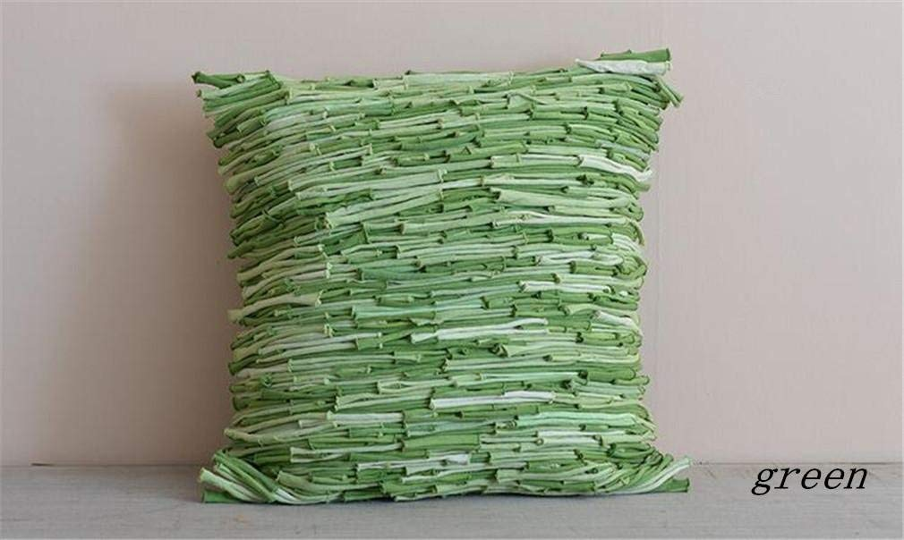 Soft Pillow Hand Made Throw Pillow Zipper Removable Pillowcase Soft Environmental Protection Home Decorative for Living Room Sofa Chair Car, 4545cm