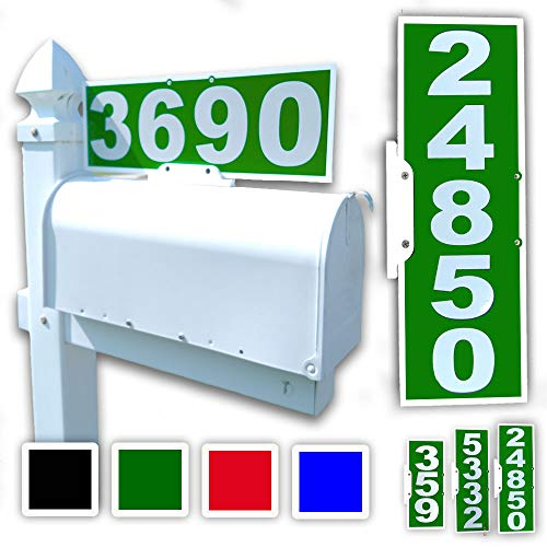 Mailbox Plaque (CIT Group Green Mailbox Address Plaque, Reflective 911 Plate, Mailbox Topper. Most Visible Mailbox Address Marker on The Market!)