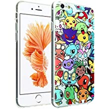 """iPhone 6S Pokemon Go Case, DURARMOR FlexArmor iPhone 6 Clear Cover Pokemon Go Collection Flexible Bumper ScratchSafe TPU Ultra Thin Case Protector Cover for 4.7"""" iPhone 6s, 6"""