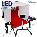 LimoStudio Photography Table Top Photo Light Tent Kit, 16'' Photo Light Box, 5500K 600 Lumen LED Lighting Kit, Camera Tripod and Cell Phone Holder, AGG1066