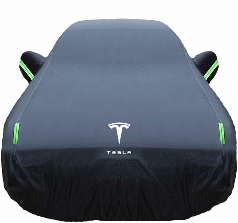 Color : Black, Size : Model3 Compatible avec Tesla Mod/ÈlES Model3 Car Cover Car la Pluie et la Neige Preuve ModelX sp/éciale Paletot