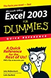 Excel 2003 for Dummies®, Colin Banfield and John Walkenbach, 0764539876