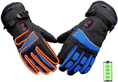 電気手袋、屋外のリチウム電池暖房手袋、両面暖かい防水スキーグローブ、冬スマート3速サーモスタット暖かい手袋