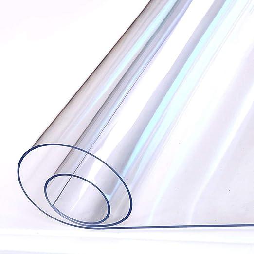 Mantel Transparente Redondo, Impermeable a Prueba de Calor PVC ...