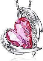 CDE Ketten für Damen Rosegold Herz, Halsketten für Frauen Schmuck, mit Elegante Geschenkverpackung, 45CM Kettenlänge...
