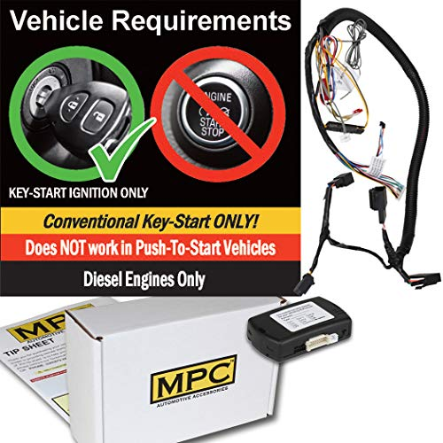 - MPC Prewired Factory Remote Activated Remote Start Kit for 2011-2016 Ford F-350 - Diesel Only - Includes T-Harness