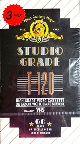 MGM Studio Grade T-120 High Grade Video Cassette - Pack of 3