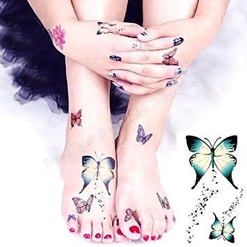Cuerpo de klebbare temporales tatuaje Tattoo Pegatinas Mariposa ...