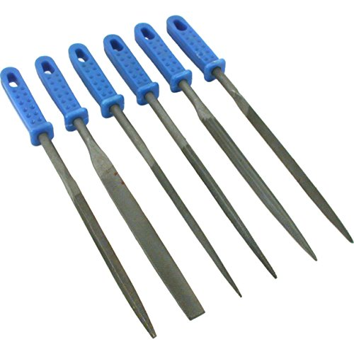 - 6 Needle Files Jewelers Watchmaker Metal Filing Tools, Model: