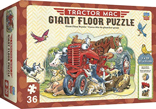 MasterPieces Tractor Mac Giant Shaped Floor Puzzle, 36-Piece