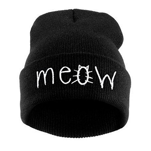 Knit hat,IEason Winter Knitting MEOW Beanie Hat And Snapback Men And Women Hiphop Cap - Snapbacks And Beanies