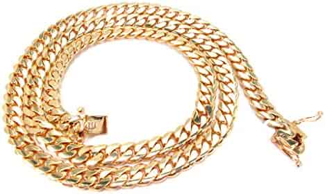 Genuine 14K Yellow Gold 30 Inches Heavy Miami Cuban Link Chain Necklace