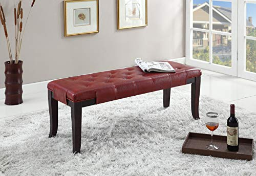 Swell Red Leather Bench Home Design Ideas Gamerscity Chair Design For Home Gamerscityorg