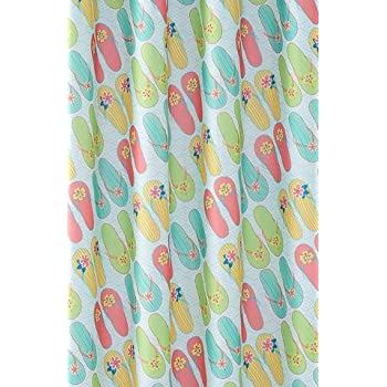Flip Flop Summer Fabric Bathroom Shower Curtain