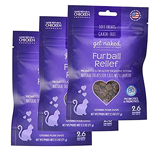 Image of Get Naked Furball Relief Soft Treats for Cats, 2.5 oz (3 Pack)