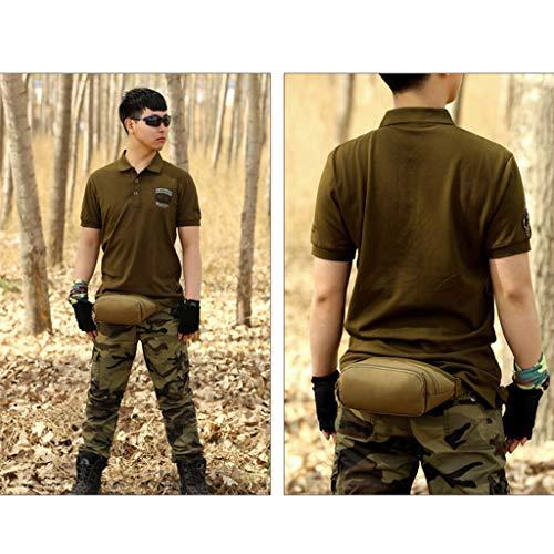 Portefeuille Sac Zip à Bum Poche Khaki Taille Pack Ceinture Imperméable Voyage Sport l'eau Camping Hommes Senoow gzRCqB