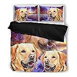 Labrador Retriever Bedding Set - Dog Lovers Gifts - Custom Cover Print Design Pillow Cases & Duvet Blanket Cover - Pet Gift Ideas
