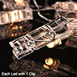 40 LED Photo Clip String Lights Battery Powered