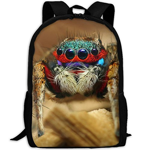 Animal Spider Unique Outdoor Shoulders Bag Fabric Backpack Multipurpose Daypacks For Adult