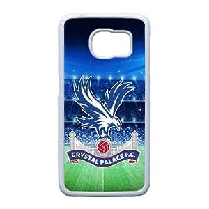 caso del borde del Crystal Palace Fc I7J46P8SF funda Samsung Galaxy S6 funda blanca 608C61