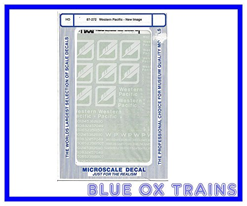 Microscale HO Decal Western Pacific New Image WP #87-272 .HN#GG_634T6344 G134548TY43633