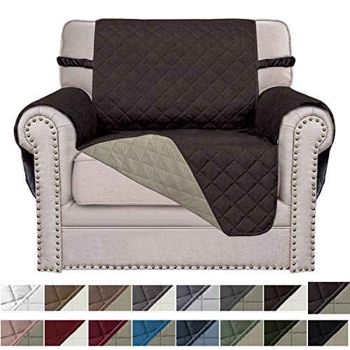 Easy-Going Sofa Slipcover Reversible Sofa Cover Furniture Protector Couch Cover Elastic Straps PetsKidsChildrenDogCat(Chair,Chocolate/Beige) (Best Way To Clean Microfiber Sofa)