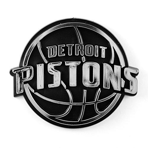 - NBA Detroit Pistons Chrome Emblem, One Size, One Color