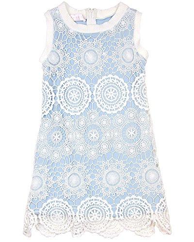 Biscotti Girls' Shift Dress Crazy For Crochet Blue, Sizes 7-16 - 14 by Biscotti
