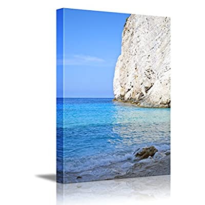 Canvas Wall Art - Beautiful Landscape Paradise Beach at Zakynthos Island - Greece | Modern Home Art Canvas Prints Giclee Printing Wrapped & Ready to Hang - 24