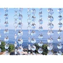 EUBEST 16 Feet Crystal Acrylic Gems Bead Strands Wedding Centerpieces Manzanita Crystals Tree Garlands Christmas Decor