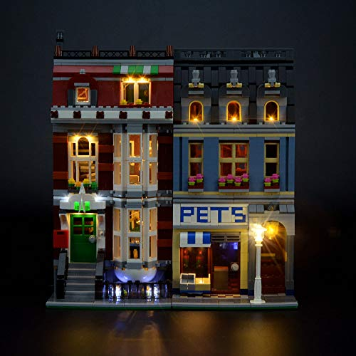LIGHTAILING Light Set for (Creator Pet Shop) Building Blocks Model - Led Light kit Compatible with Lego 10218(NOT Included The ()