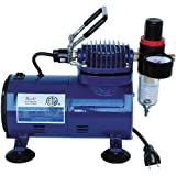 Paasche D500SR 1/8 HP Compressor with Regulator and, used for sale  Delivered anywhere in USA