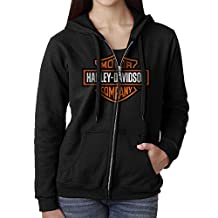 NEW Ladies Harley-Davidson Motorcycles Hooded Sweatshirt Winter Full Zip Side Pockets