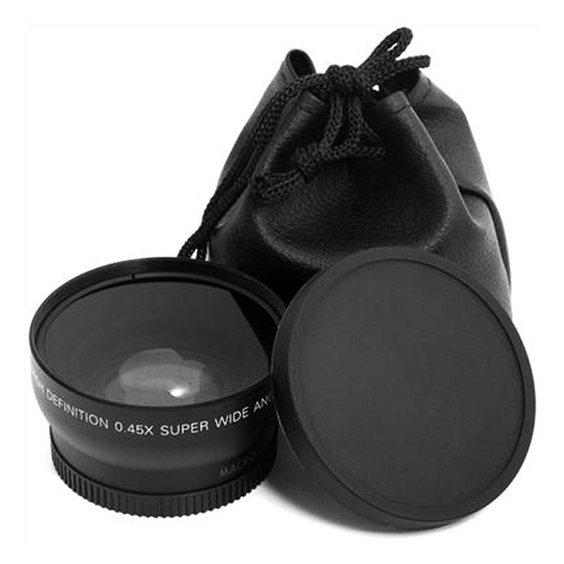 Berufs 52MM 0.45 x Weitwinkelmakro-Objektiv f/ür Nikon D3200 D3100 D5200 D5100 Schwarz Super Weitwinkel