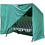 Topeakmart Seater Hammock Swing Glider Canopy Cover Waterproof Zipper-closure Furniture Protection Army green