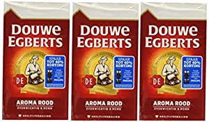 Douwe Egberts Aroma Rood Ground Coffee, 8.8-Ounce Packages (Pack of 3)