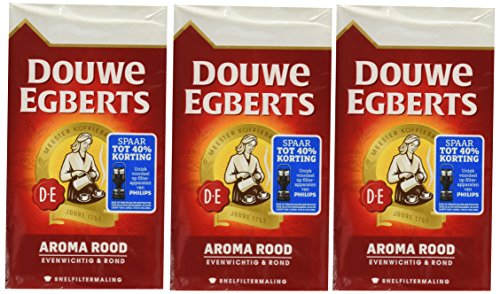 Douwe Egberts Ground Coffee - Douwe Egberts Aroma Rood Ground Coffee, 8.8-Ounce Packages (Pack of 3)