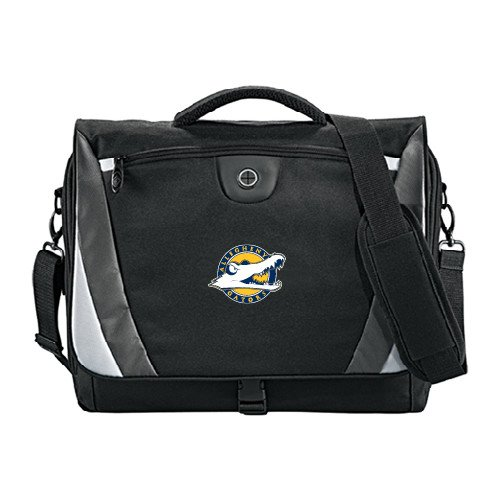 Allegheny Slope Black/Grey Compu Messenger Bag 'Official Logo' by CollegeFanGear